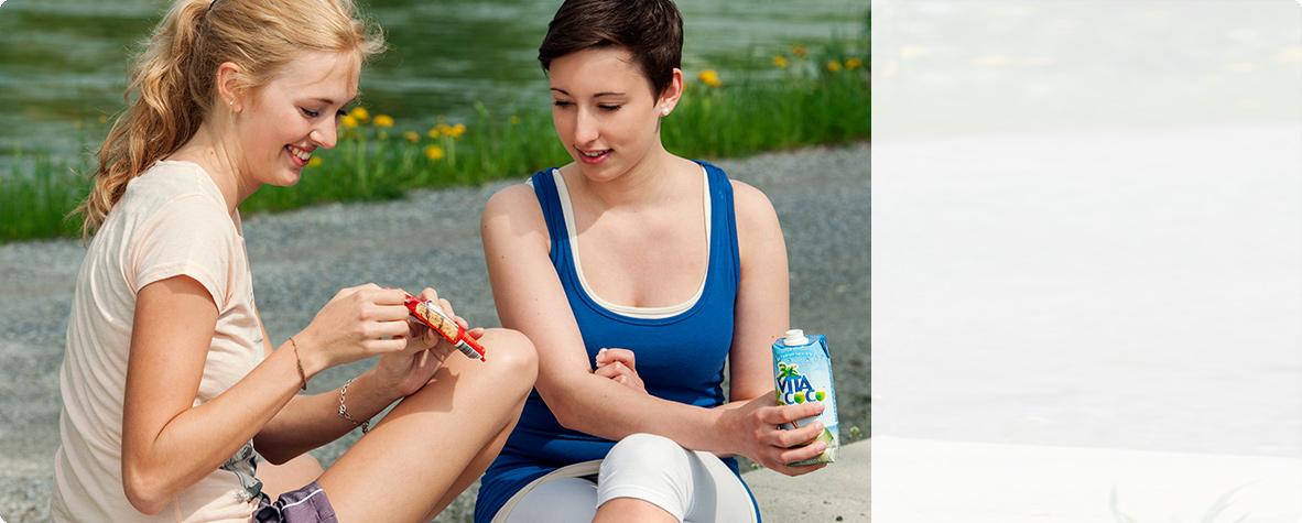 Sportler Snacks für Zeiten erhöhten Energiebedarfes